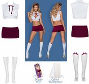 Obsessive Lingerie [ UK 6 - 10 ] 'Saucy Student' Fancy Dress Outfit (E29382)